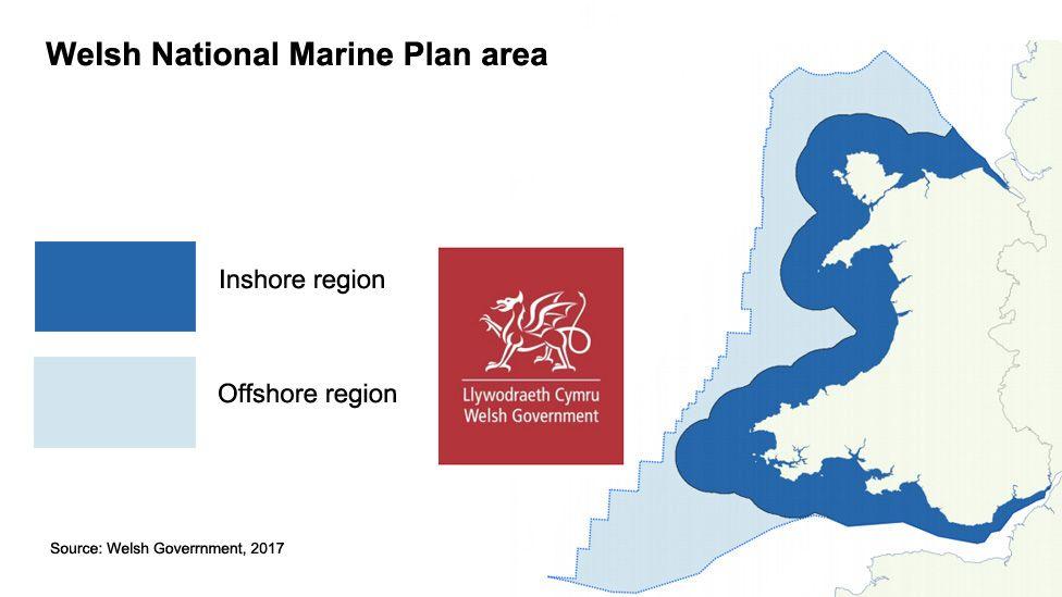 Map of marine area