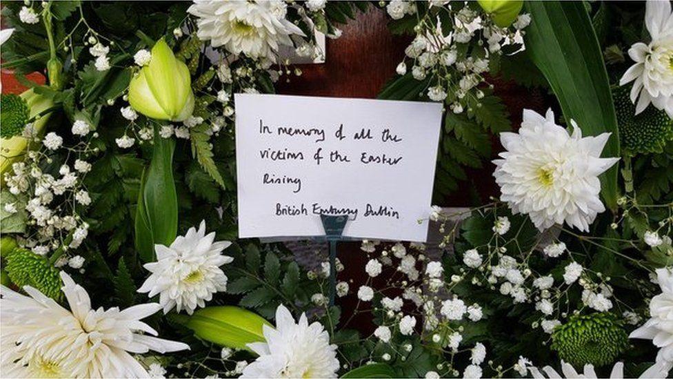 BRITISH EMBASSY NOTE AND FLOWERS