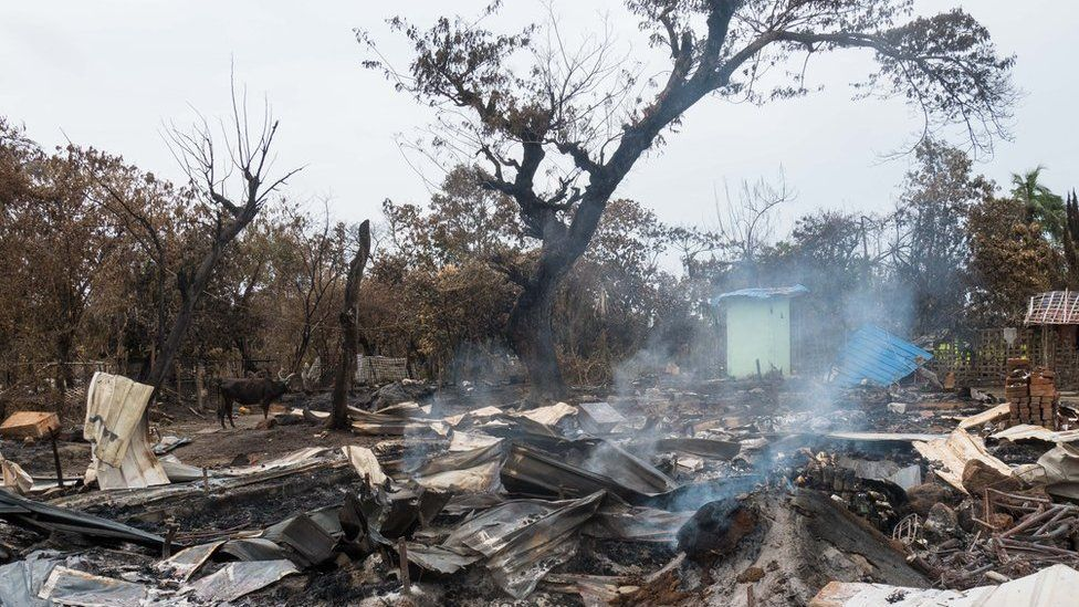 The Smouldering Ruins Alel Than Kyaw