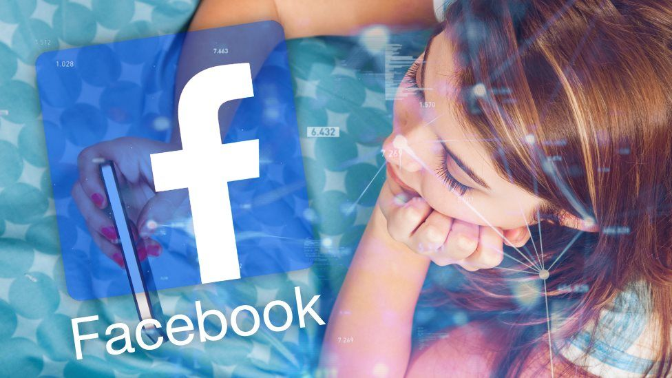 Teenage girl on Facebook