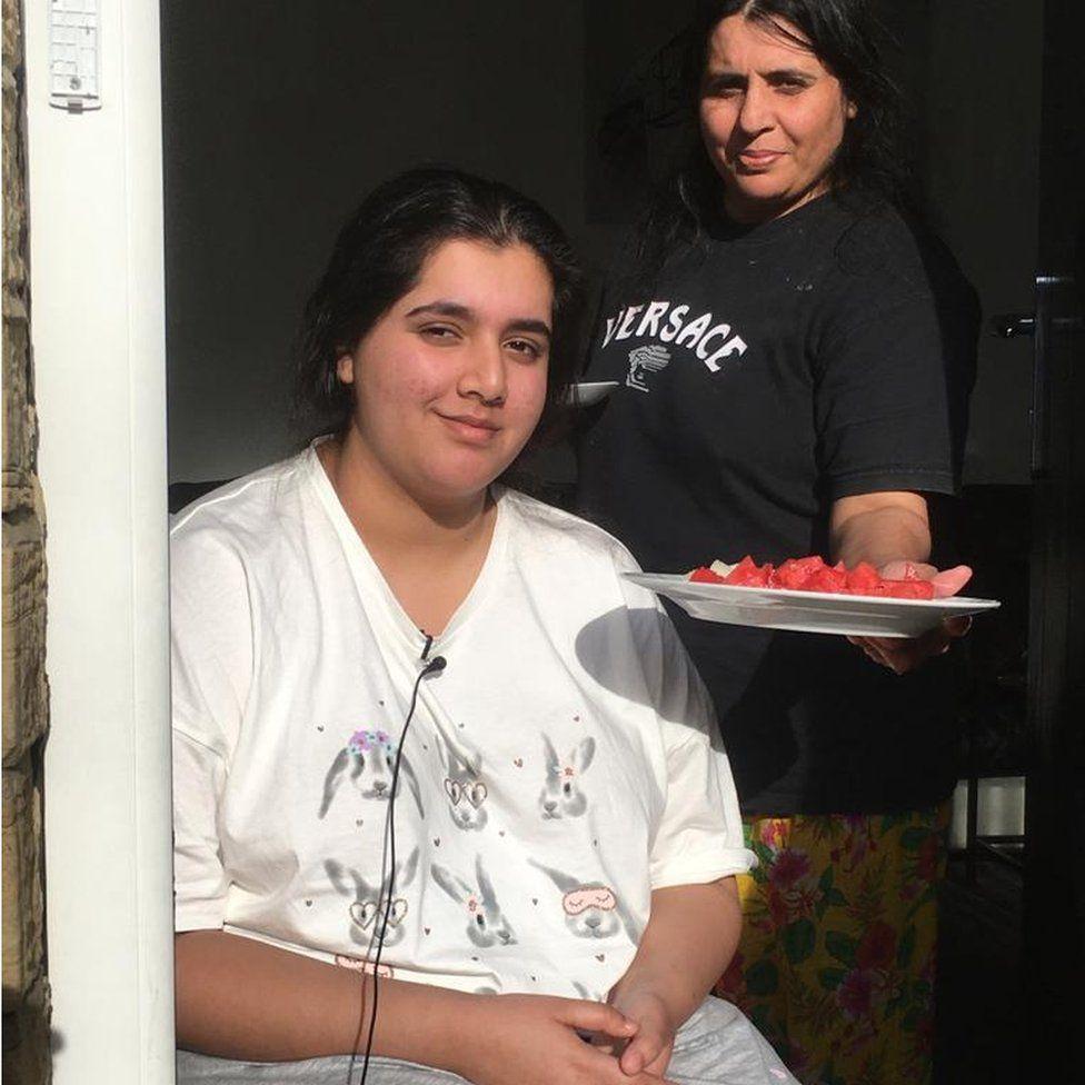 Marium and her mother, Saiqu