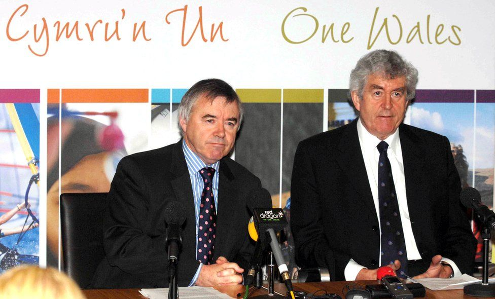 Ieuan Wyn Jones and Rhodri Morgan