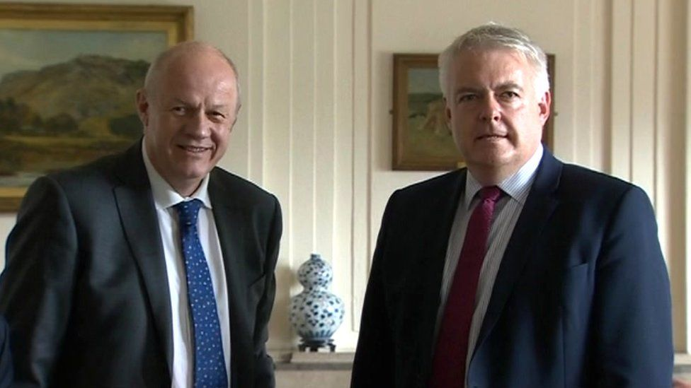 Damian Green and Carwyn Jones