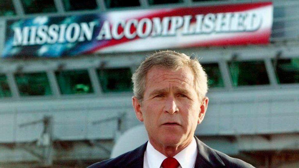 George Bush announces victory