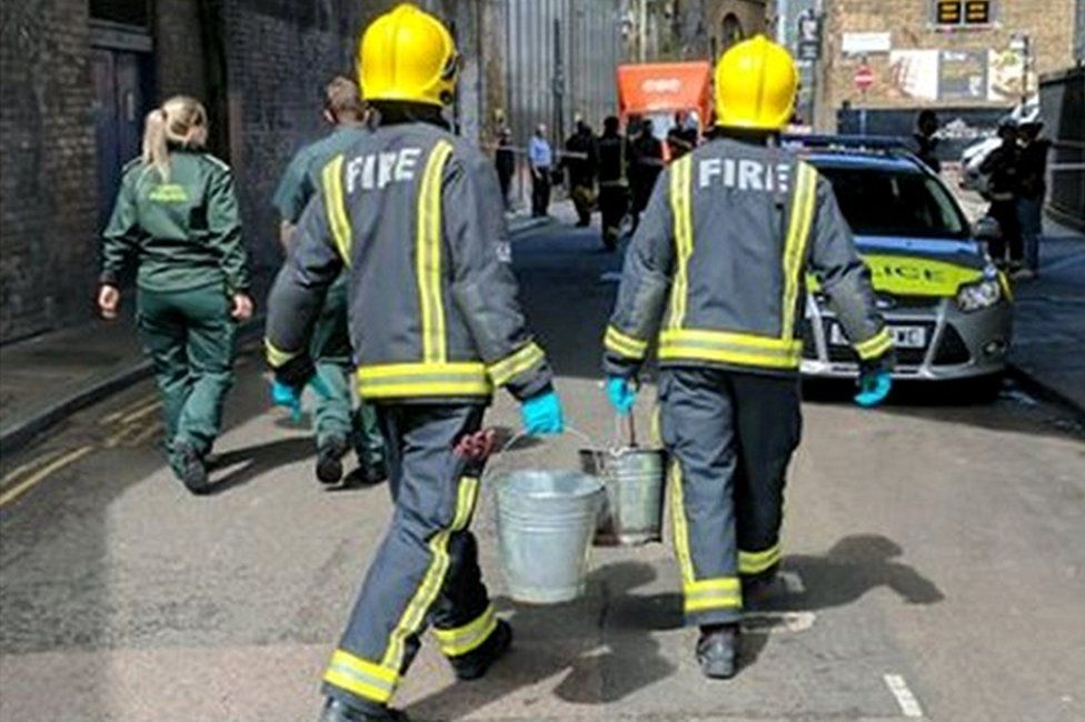 Emergency services in Borough Market