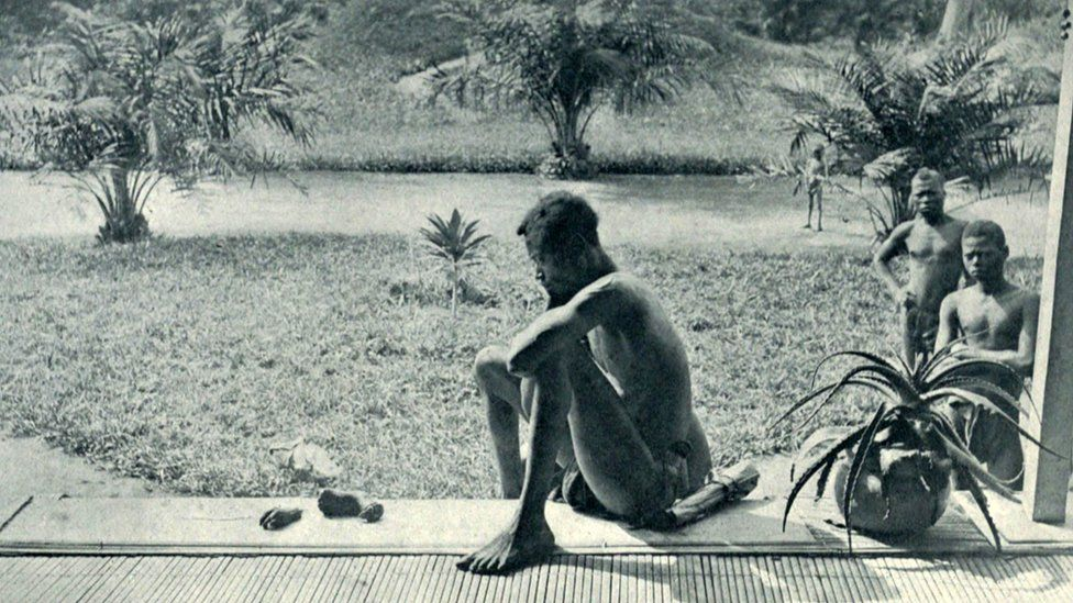 A now infamous photo capturing atrocities committed in Congo Free State