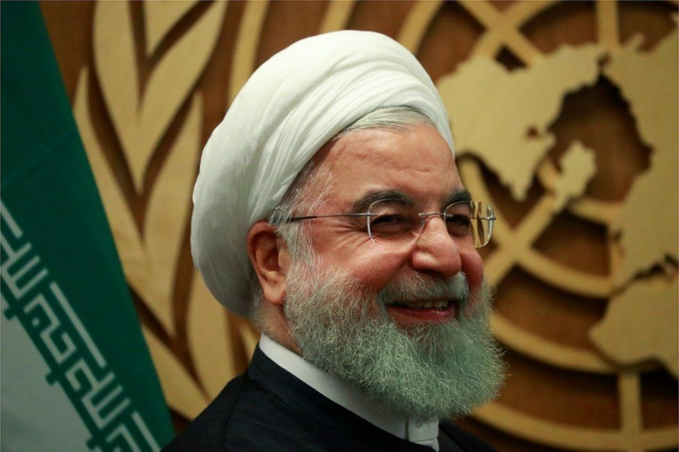 Iran's President Hassan Rouhani seen at a meeting on the sidelines of the annual UN General Assembly in New York on 25 September 2019.
