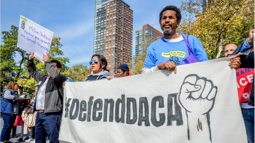 Immigration advocates began a march to Washington DC ahead of the oral arguments
