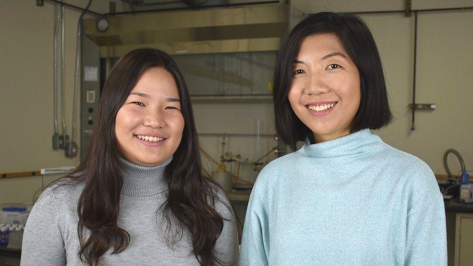 Miranda Wang (left) and Jeanny Yao