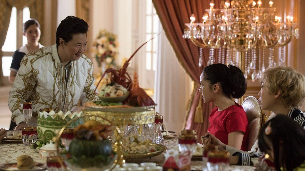 Ken Jeong, Constance Wu and Awkwafina in Crazy Rich Asians