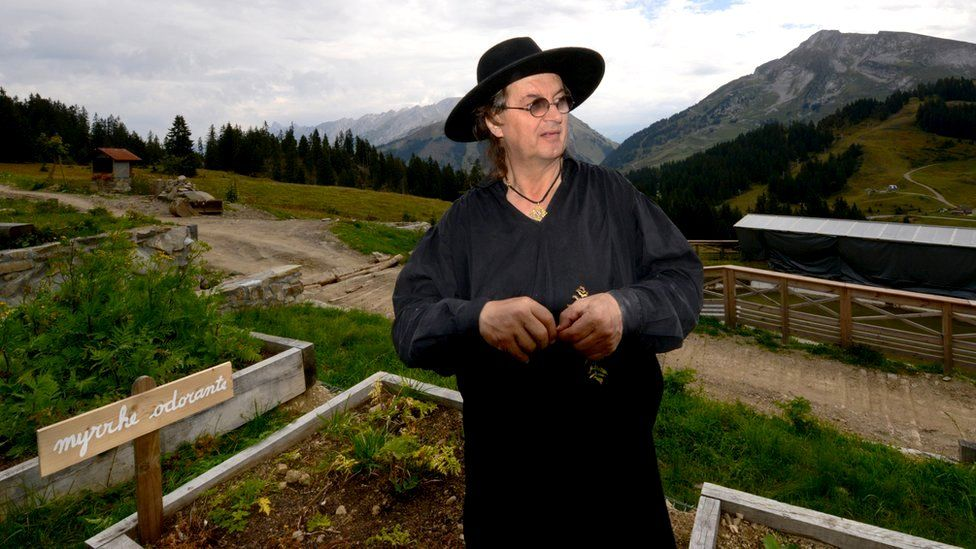 French chef Marc Veyrat in his garden in the Alps, 26 September 2013