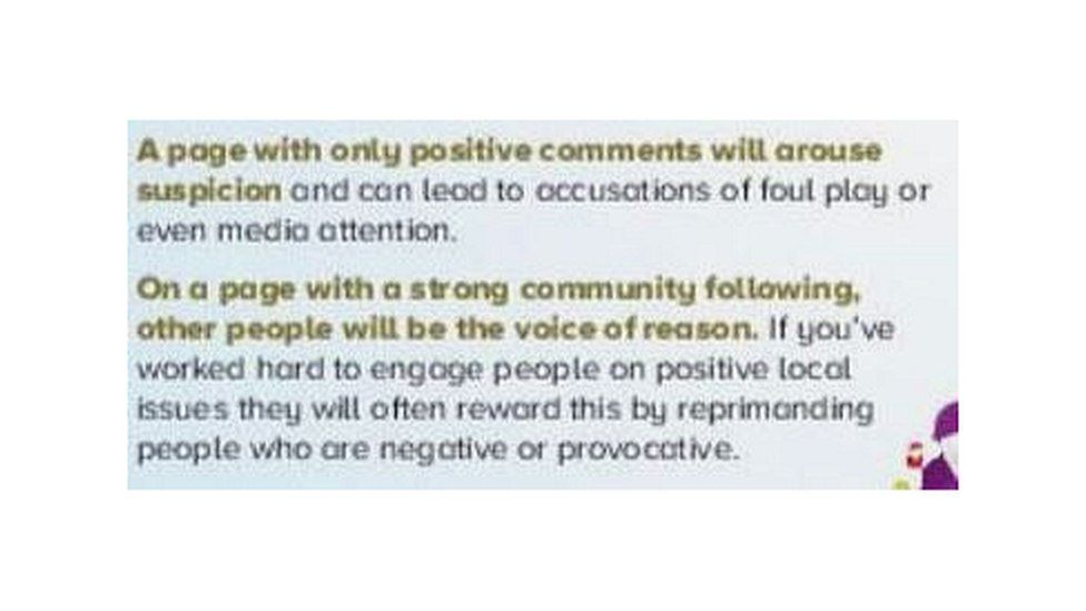"""""""On a page with a strong community following, other people will be the voice of reason"""""""