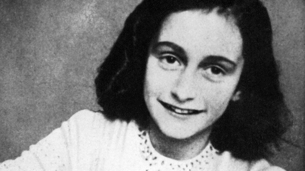 A file picture released in 1959 shows a portrait of Anne Frank who died of typhus in the Bergen-Belsen concentration camp in May 1945 at the age of 15
