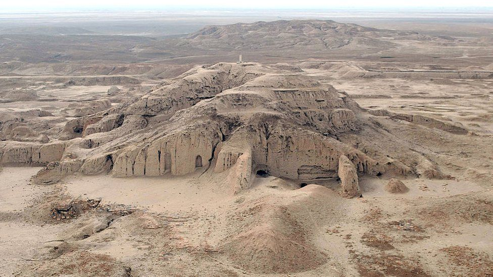 The archaeological site of Uruk (Warka), 30km east of Samawa, on January 25, 2010