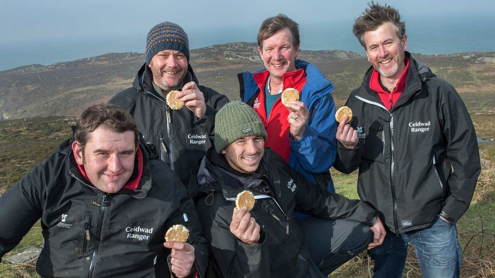 National Trust rangers with Welsh cakes