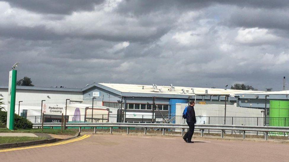 Greencore factory in Northampton