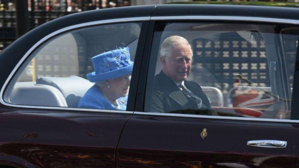 The Queen in the car 21 June 2017