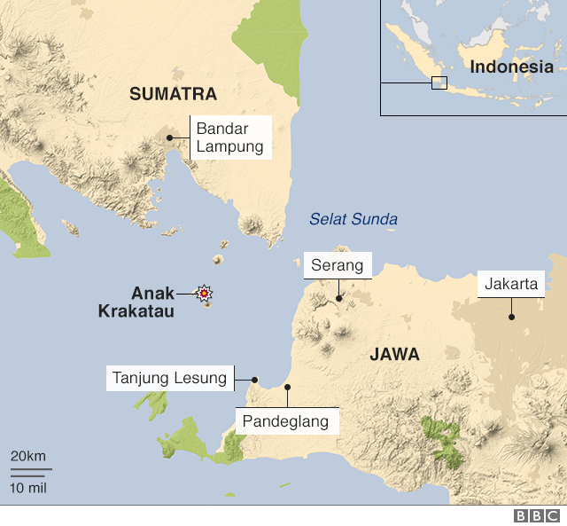 Peta Krakatau Tsunami