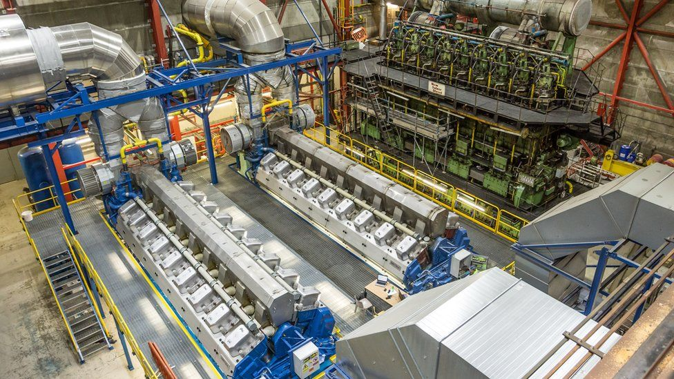 Guernsey Electricity's diesel generators