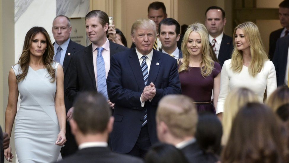 The Trump family came to Washington in October to open their latest hotel, only blocks away from the White House