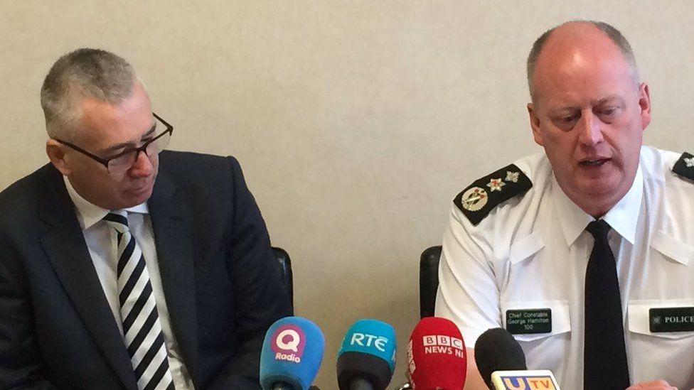 The Chief Constable of Bedfordshire Police, Jon Boutcher (left), is leading the investigation with the delegated authority of the PSNI Chief Constable George Hamilton