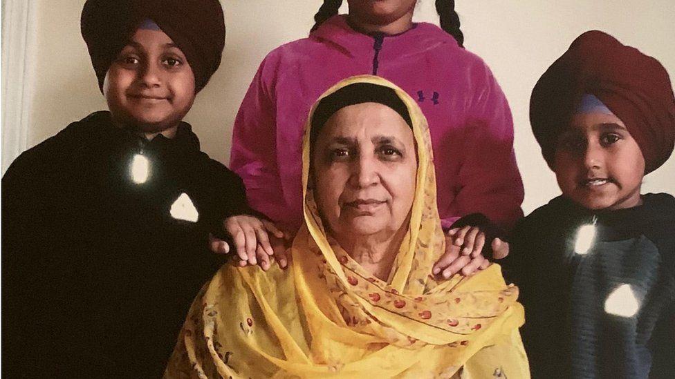 Amarjeet Kaur Johal with grandchildren
