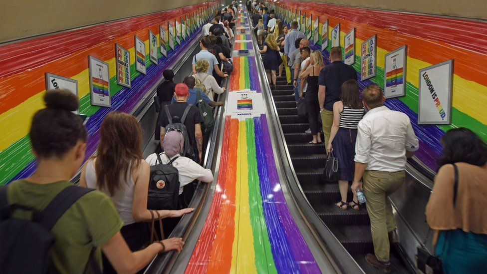 LGBT colours on the London Underground