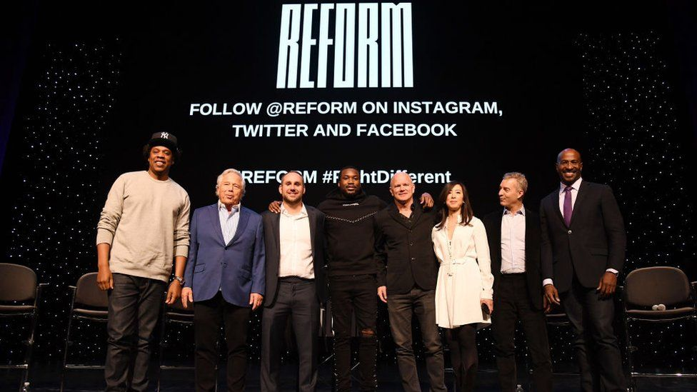 Jay-Z, Robert Kraft, Michael Rubin, Meek Mill, Michael Novogratz, Clara Wu Tsai, Daniel Loeb and Van Jones