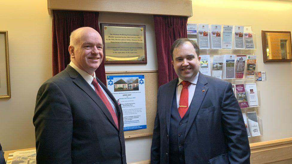 Chief Minister Howard Quayle and Health Minister David Ashford