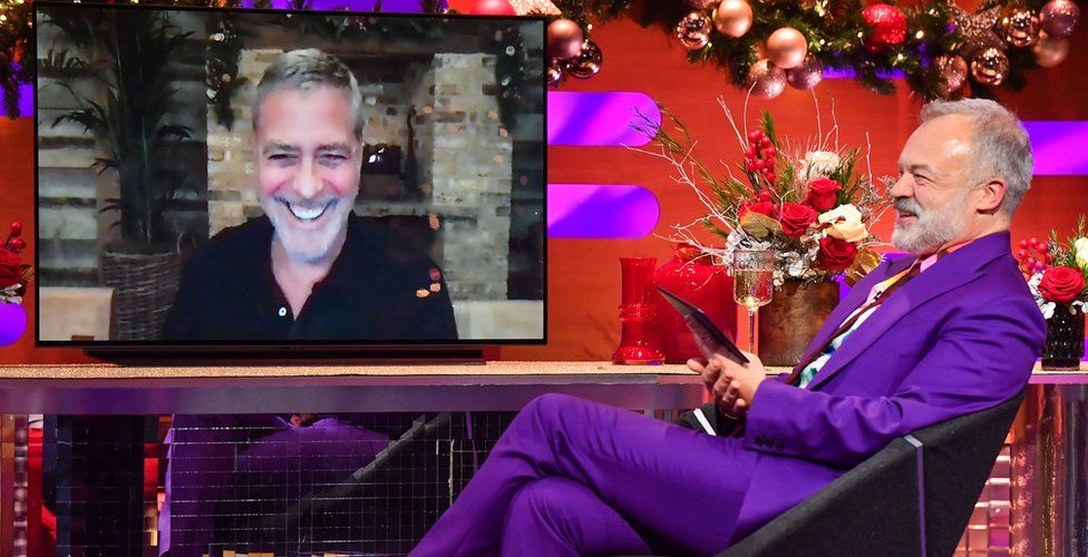 George Clooney and Graham Norton