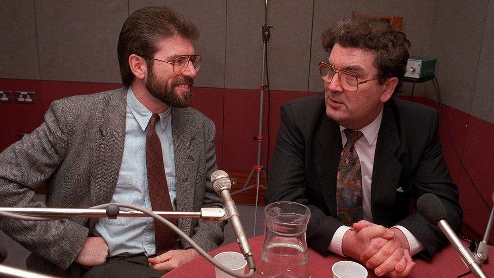 Gerry Adams and John Hume