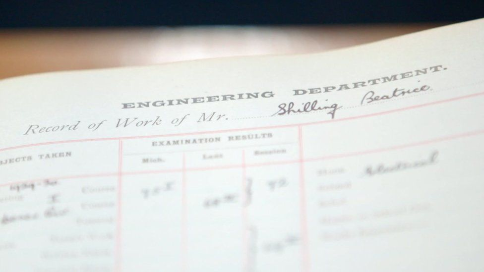 Beatrice Shilling's student record