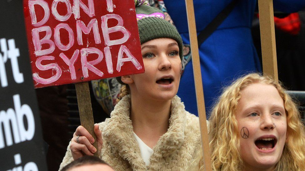 Protesters from the Stop the War campaign in London