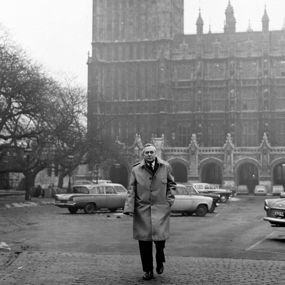 Wilson was a big fan of Gannex raincoats - made by Joseph Kagan