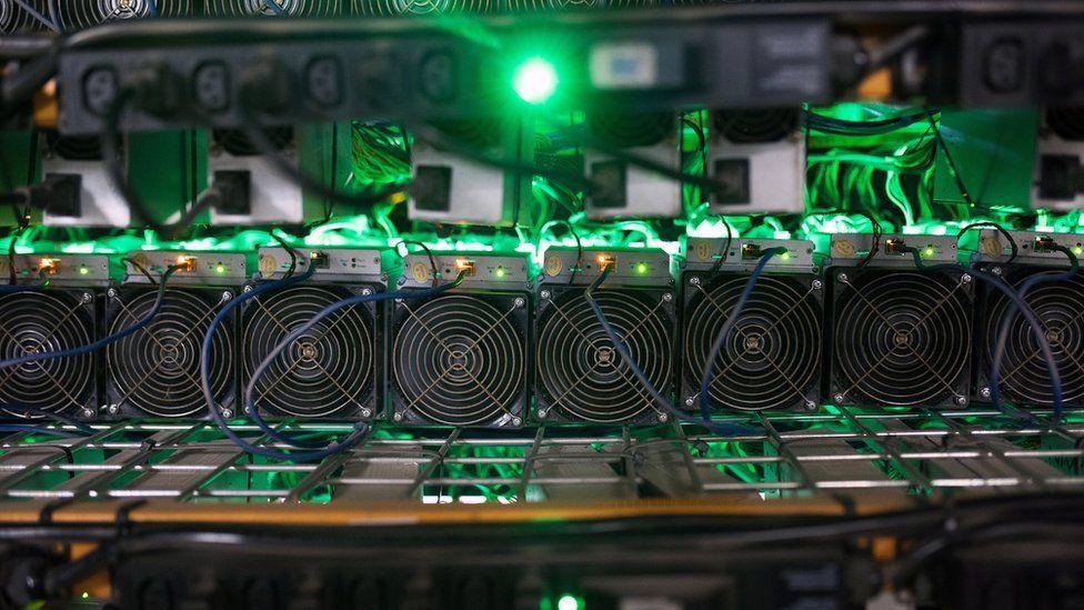 Computers mining crypto