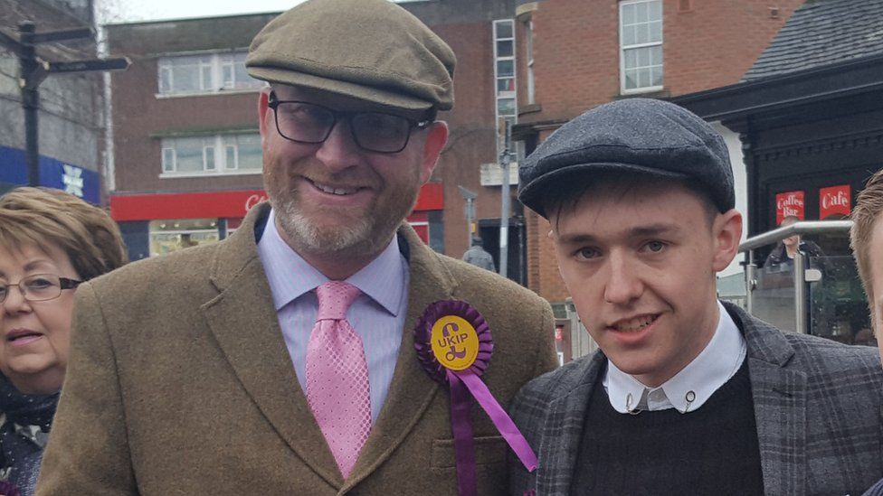 Paul Nuttall with Kieran Aspden