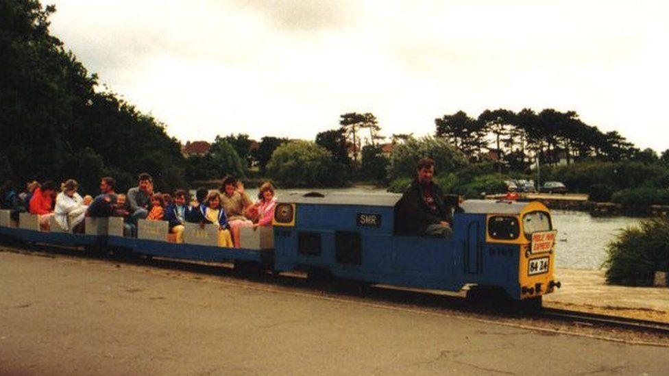 Poole Park Railway pictured in 1988