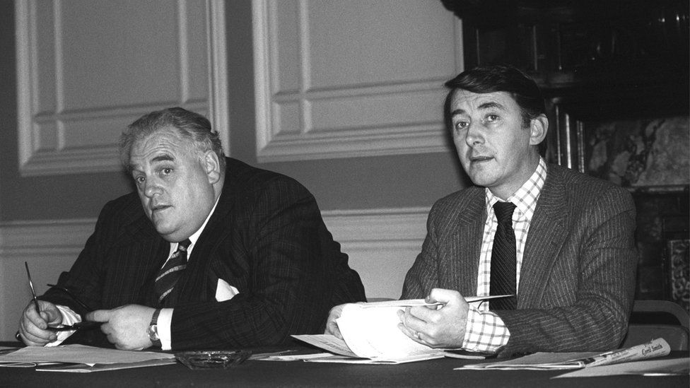 Sir Cyril Smith and Lord Steel, pictured in 1981