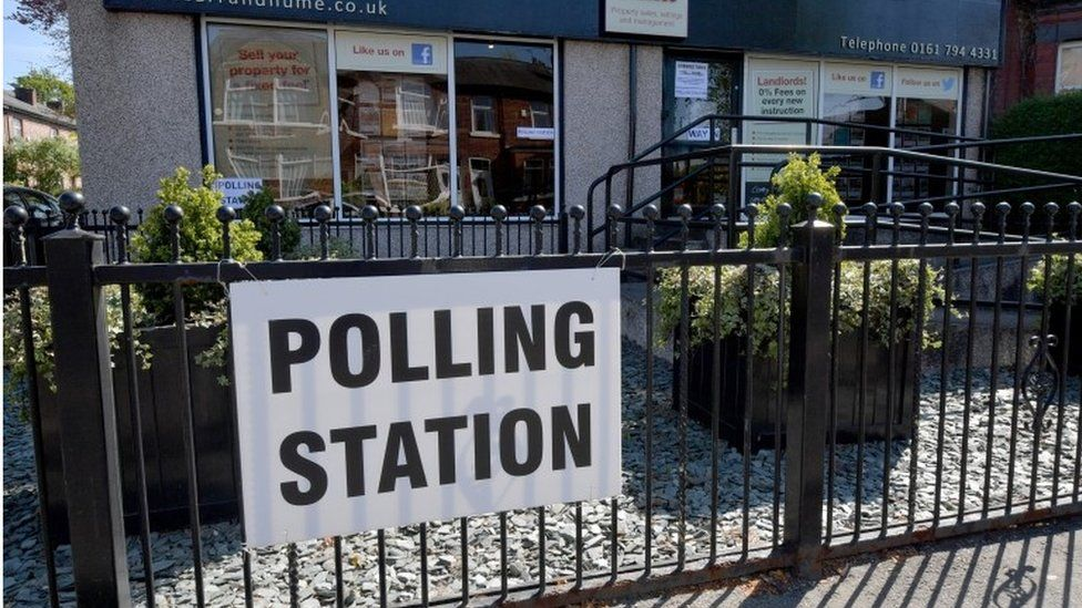 Polling station in Manchester