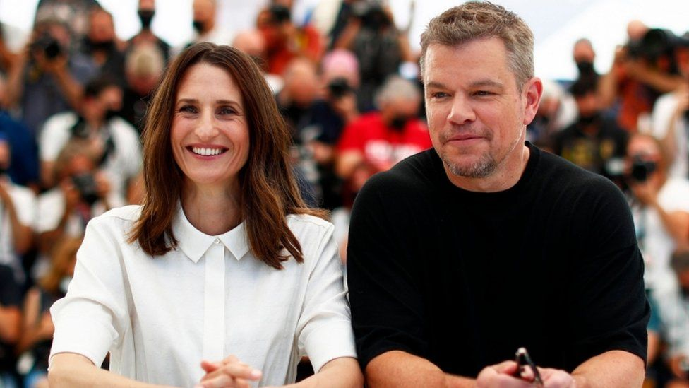 Camille Cottin and Matt Damon