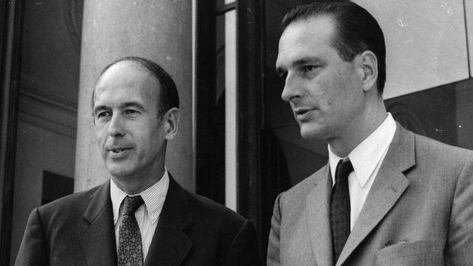 Giscard D'Estaing and Jacques Chirac in 1969