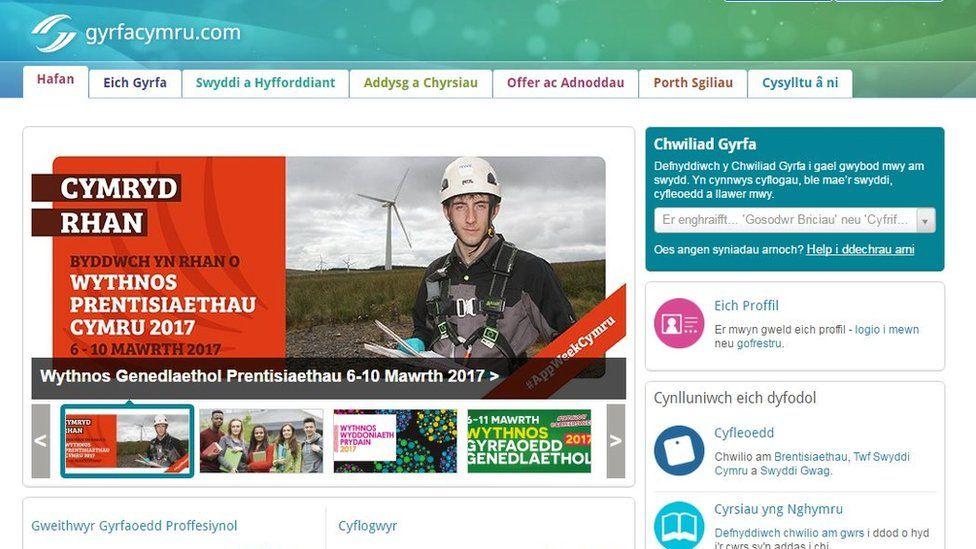 Gwefan Gyrfa Cymru