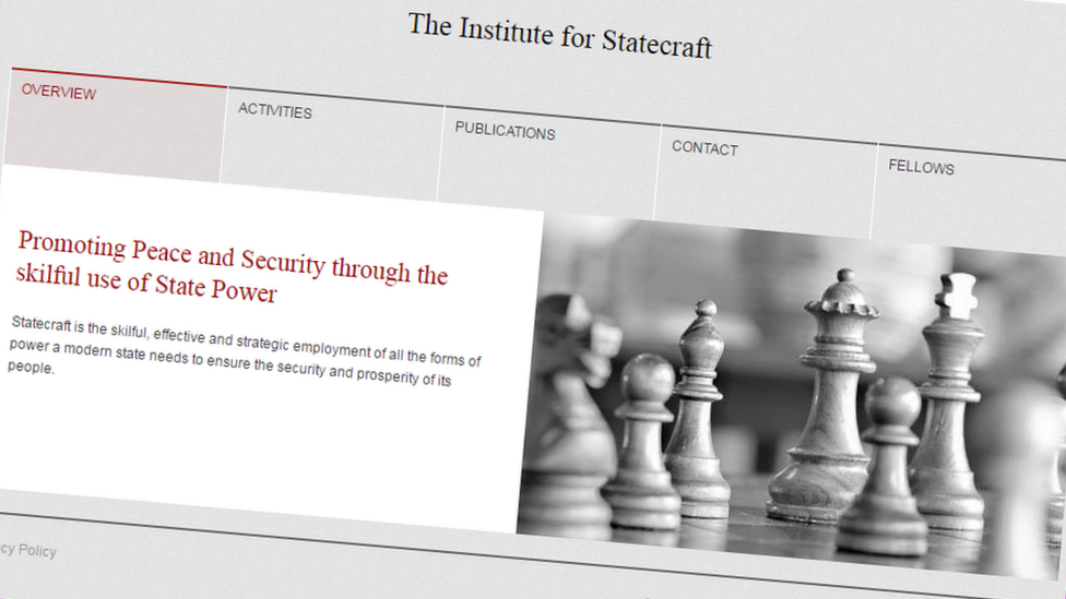 Institute for Statecraft website