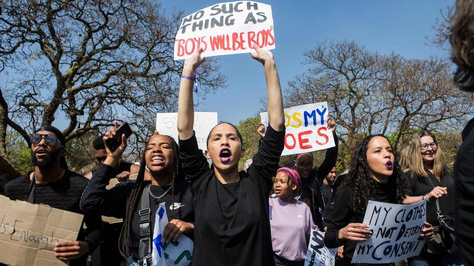Women protesting against violence against women