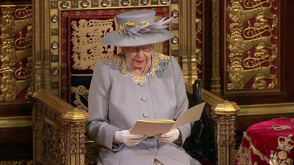 The Queen delivers the speech from the throne in the House of Lords