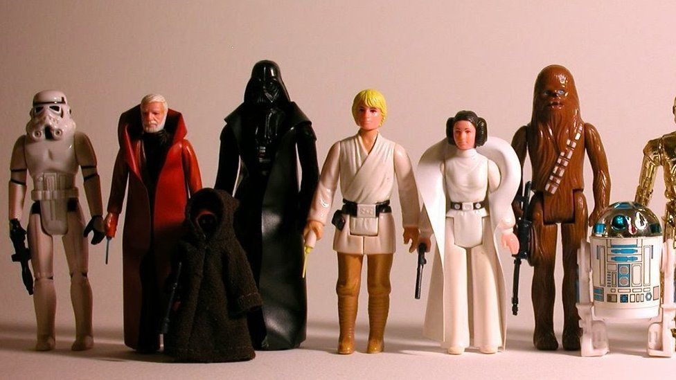 Princess Leia (third from right) was not a top seller among the original Star Wars toys