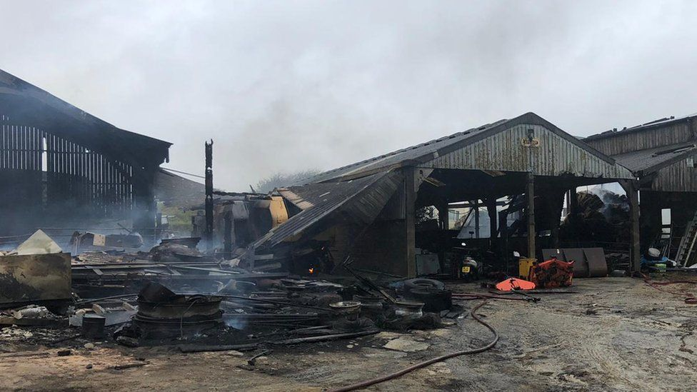 Burned barn