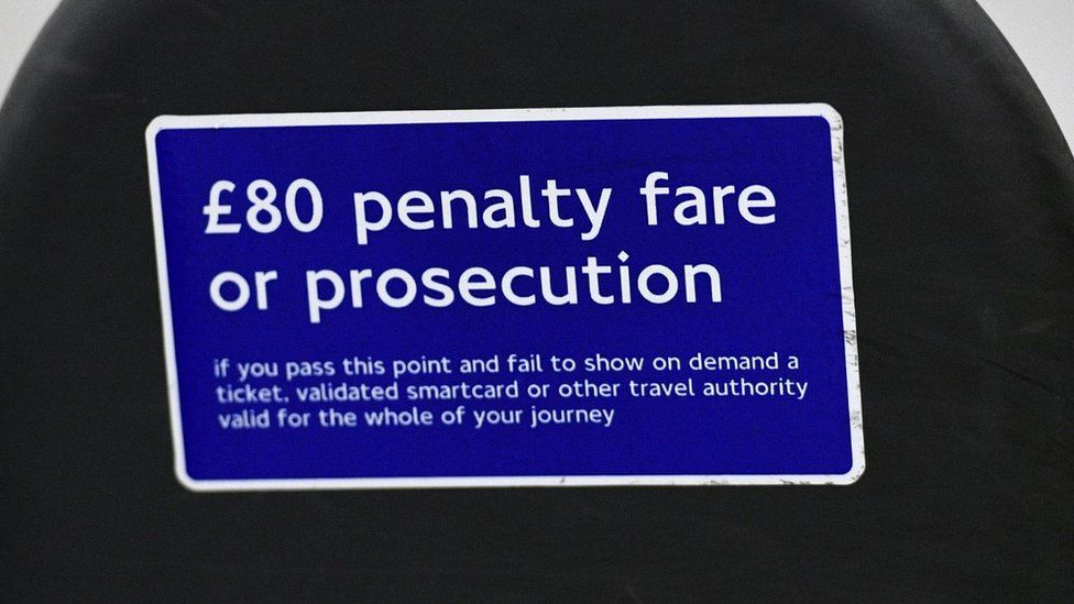 Penalty fare sign