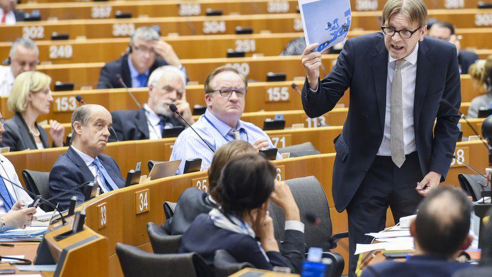 Liberal group leader Guy Verhofstadt
