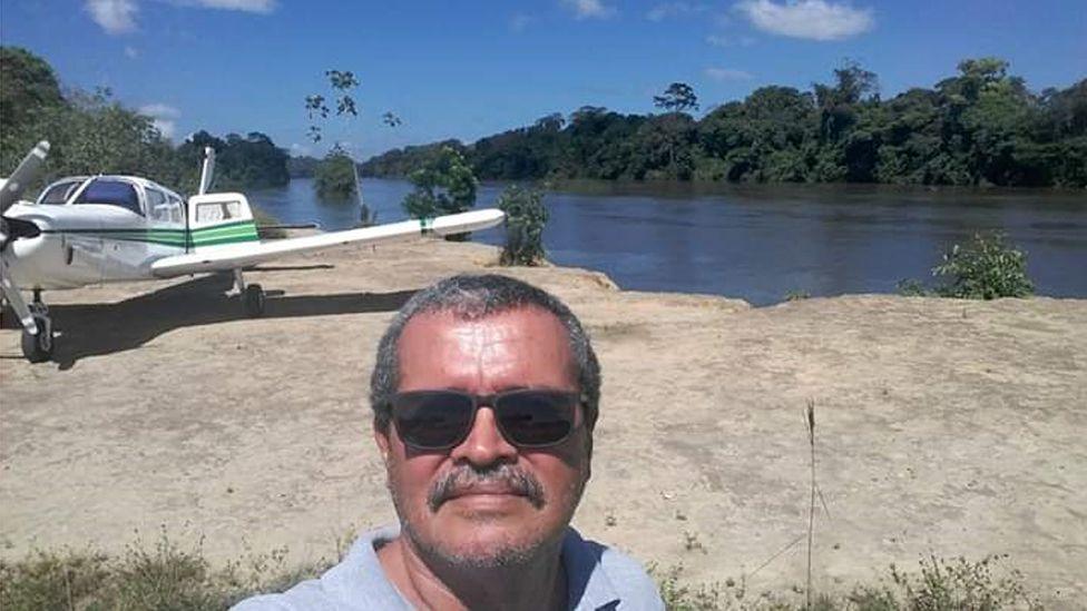Jeziel Barbosa de Moura, shortly before take-off